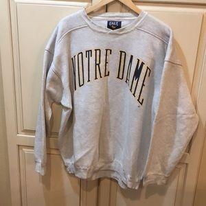 Vintage 90s notre dame crewneck sweatshirt L